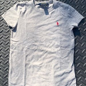 Polo Ralph Lauren Girls T shirt Grey/Pink sz 6x